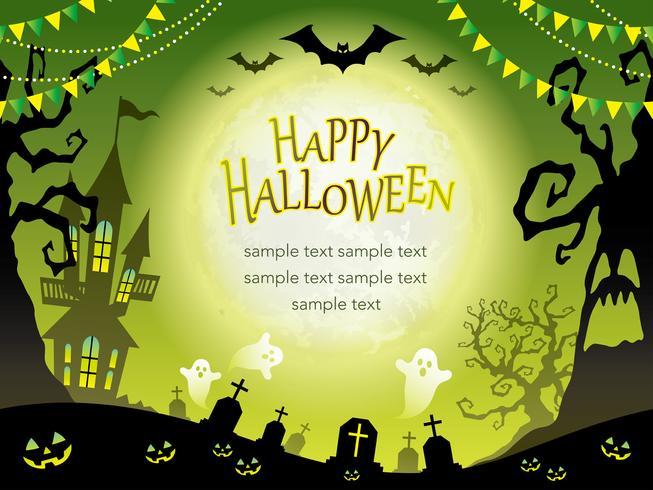 Seamless Happy Halloween bakgrund med textutrymme