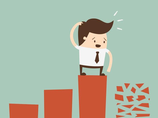 Mislukken. Platte ontwerp bedrijfsconcept cartoon afbeelding. vector