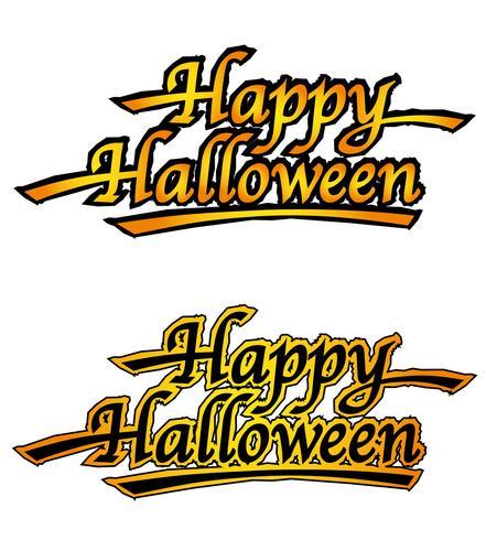 Conjunto de dois logotipos de feliz dia das bruxas, ilustrações vetoriais. vetor