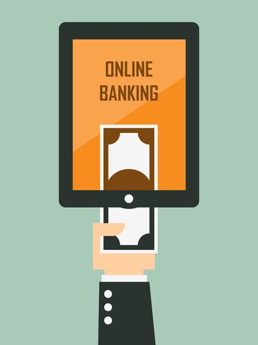 Mobile banking. Vector illustration