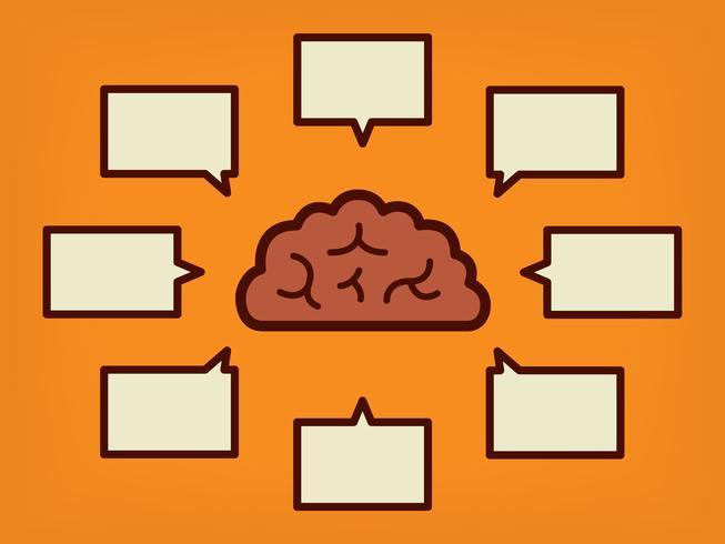 Gehirnkonzept - Vektor-Illustration