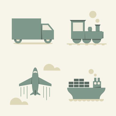 transporte de carga - ilustração vetorial vetor
