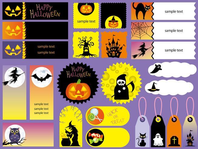 Set di carte e cartellini Happy Halloween assortiti.
