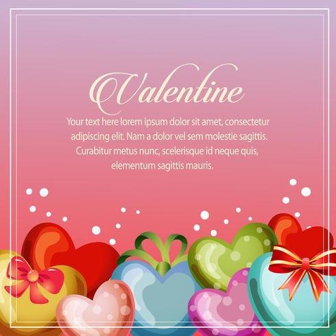 decoração de coração de cartão de dia dos namorados