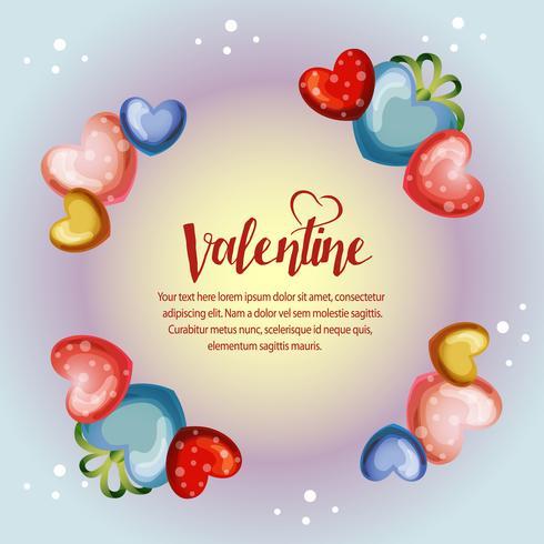 cerchio colorato San Valentino cornice