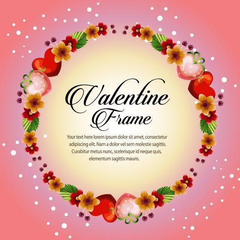 Blumenrahmen-Valentinsgrußkarte