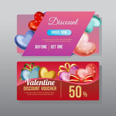 valentine discount voucher love