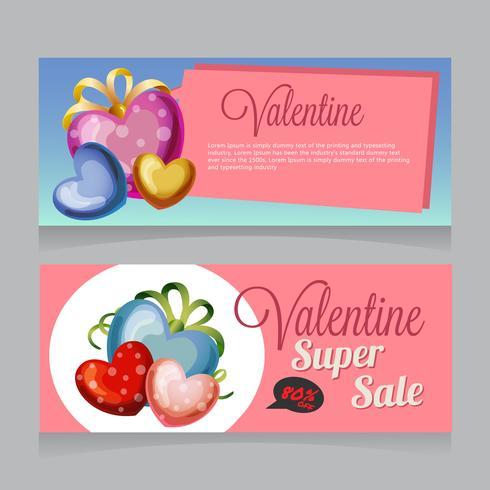 valentine sale banner love tag