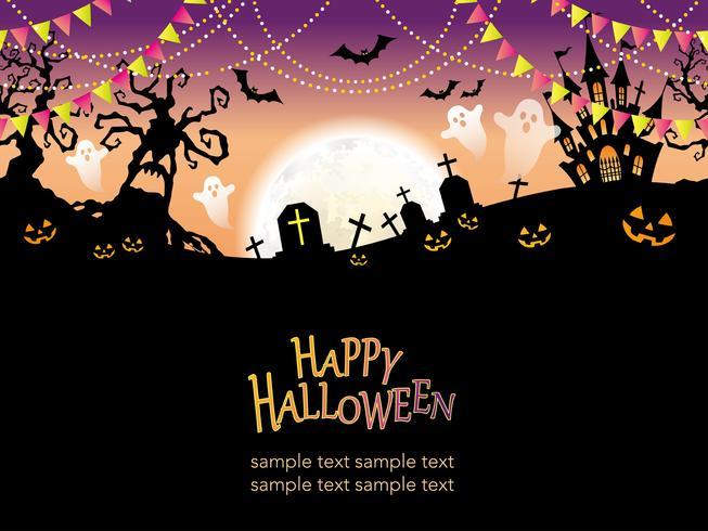 Seamless Happy Halloween vector illustration.