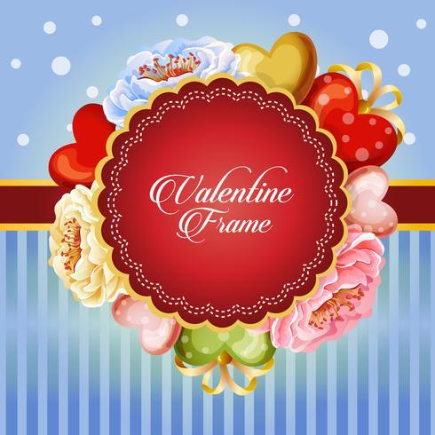 valentine card decorate beautiful flower