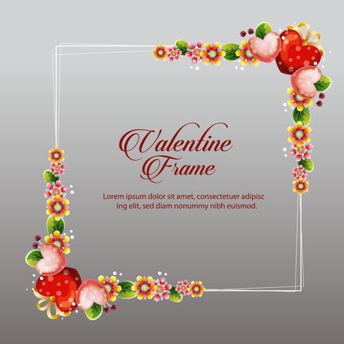 valentine frame decoration floral