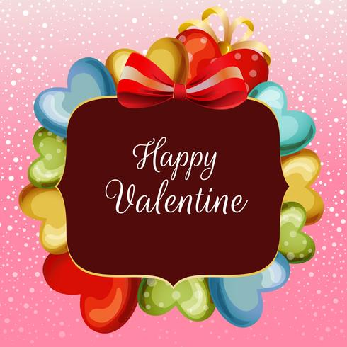 valentine snow card