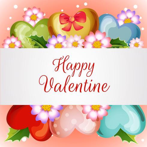 tarjeta de San Valentín con globo de amor flor