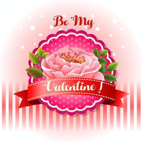 be my valentine card beautiful flower