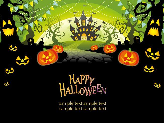 Gelukkige Halloween-vectorillustratie met tekstruimte.