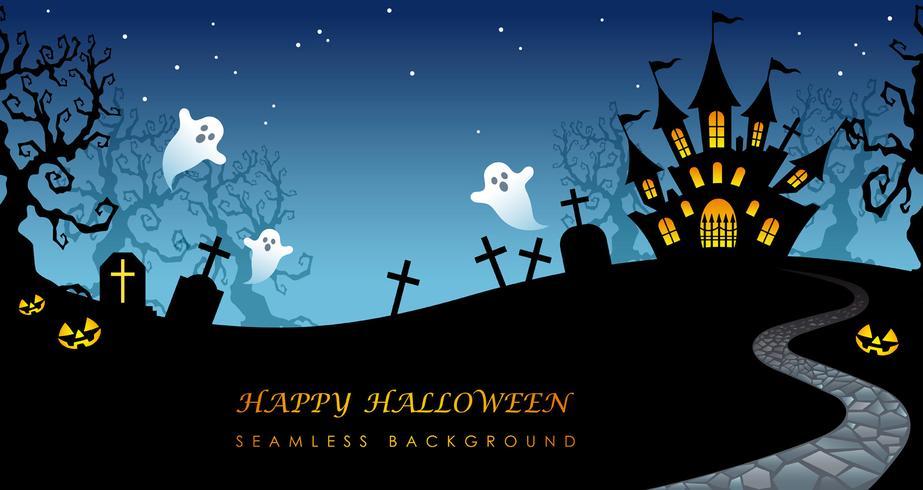 Priorità bassa senza giunte felice di Halloween con lo spazio del testo.