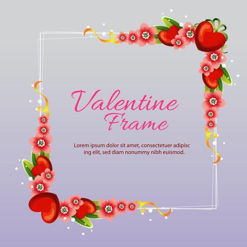 marco de amor de San Valentín con flor