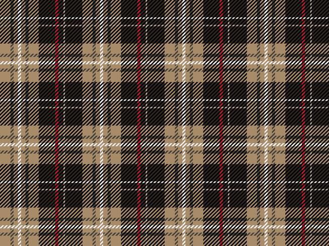 Schotse Geruite Wollen Stof.Naadloze Geruit Schots Wollen Stof Vectorillustratie
