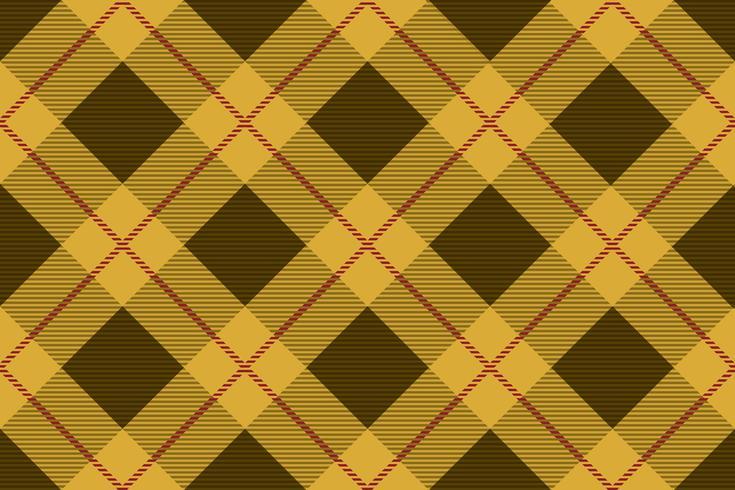 Naadloze geruit Schots wollen stof, vectorillustratie.