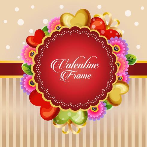 tarjeta de San Valentín corazón decorar con flor