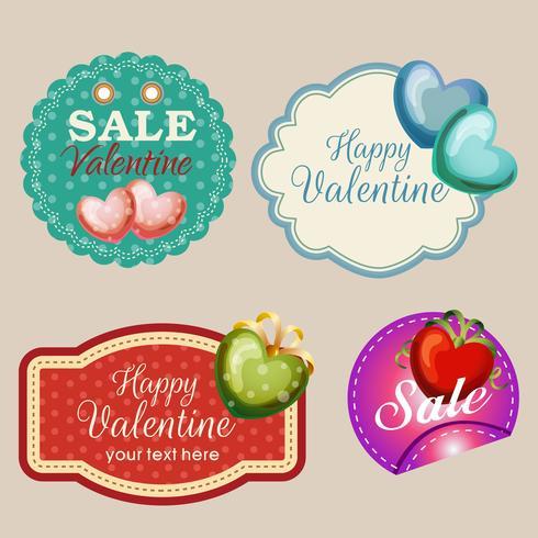 raccolta di adesivi di San Valentino