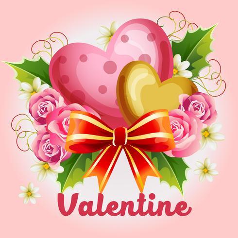 illustrazione di San Valentino con cuore carino