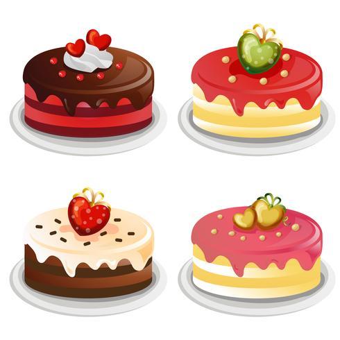 ensemble de collection de gâteau Saint-Valentin