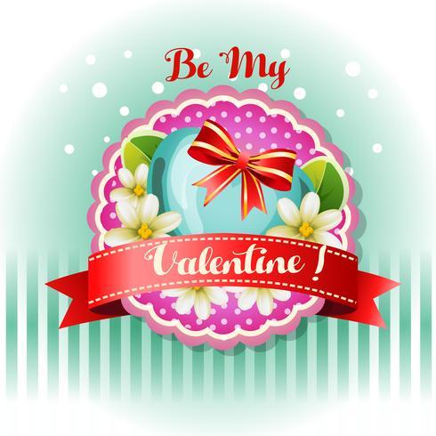 Sé mi tarjeta de San Valentín jazmín