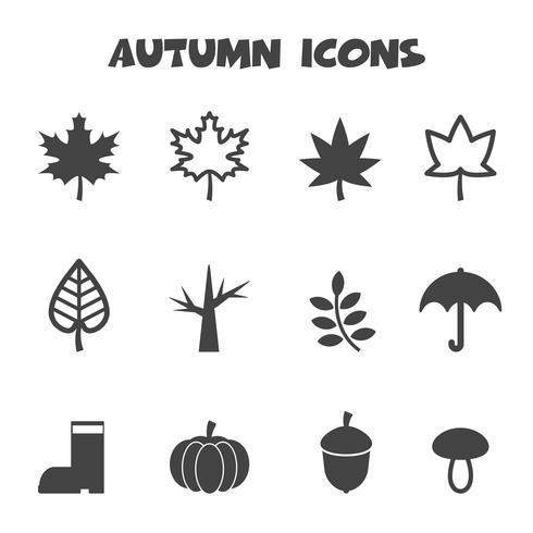 símbolo de ícones outono vetor