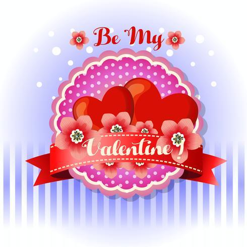 be my valentine card red flower