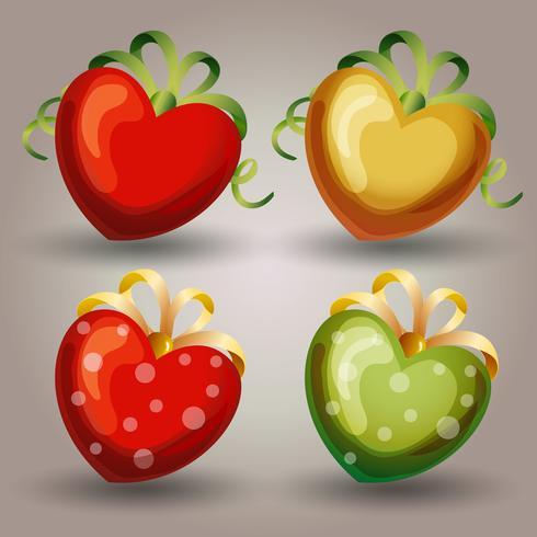 conjunto de iconos de corazón San Valentín