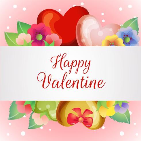 cartolina di San Valentino con fiore in fiore