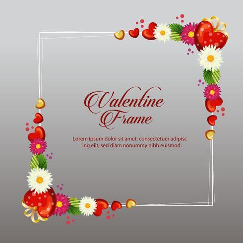 Gänseblümchen Valentine Frame