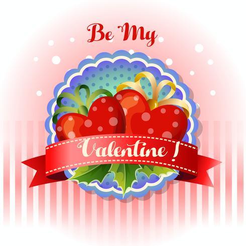 be my valentine card heart