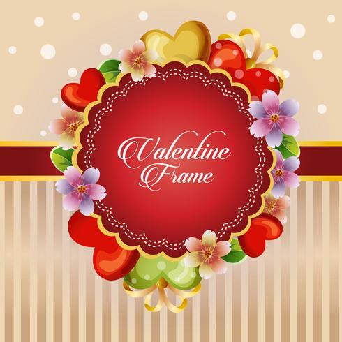 valentine card coração flor decoração