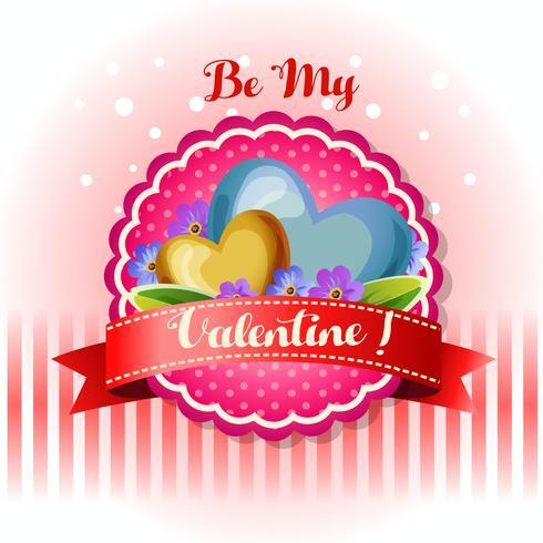 Sé mi tarjeta de San Valentín flor azul
