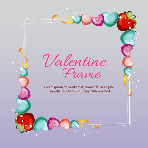 marco de amor de San Valentín