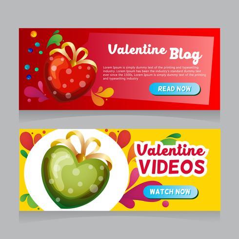 valentine love decoration web banner