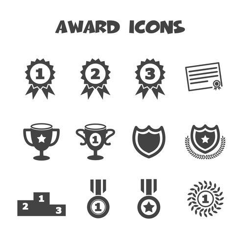 award icons symbol vector