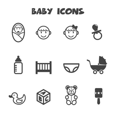 simbolo de iconos de bebe vector