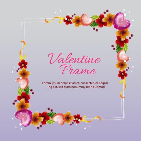 marco de amor púrpura de San Valentín