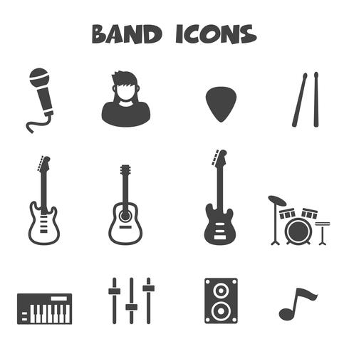 band icons symbol vector