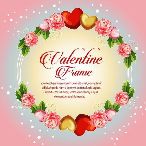 cerchio cornice camelia fiore di San Valentino