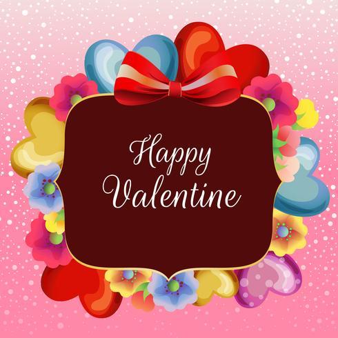 colored blossom valentine snow card
