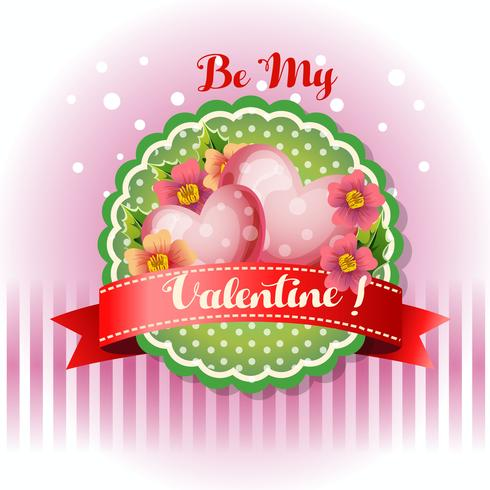 be my valentine card flourish