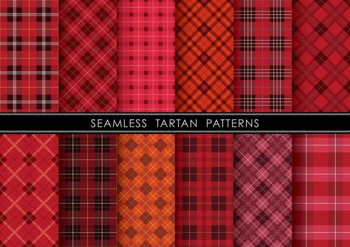 Seamless Tartan plaid set, vektor illustration.