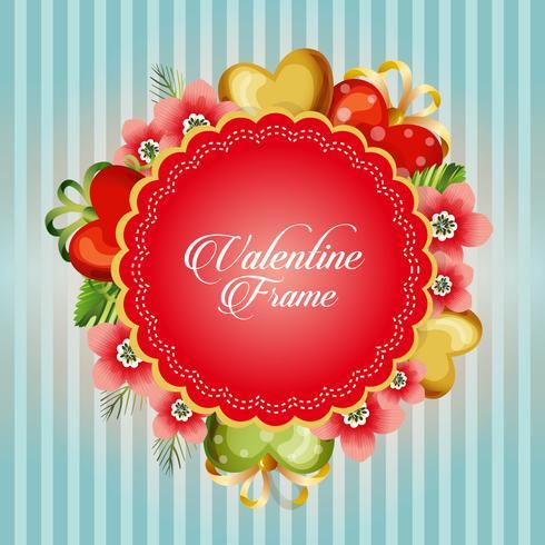 cartolina di San Valentino con fiore ornato
