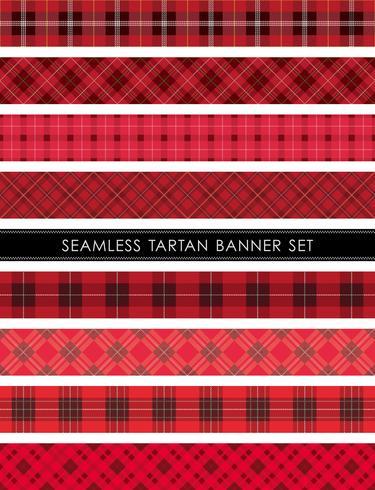 Sistema inconsútil de la bandera de la tela escocesa de tartán, ejemplo del vector.