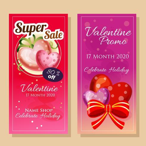 banner försäljning i valentintema