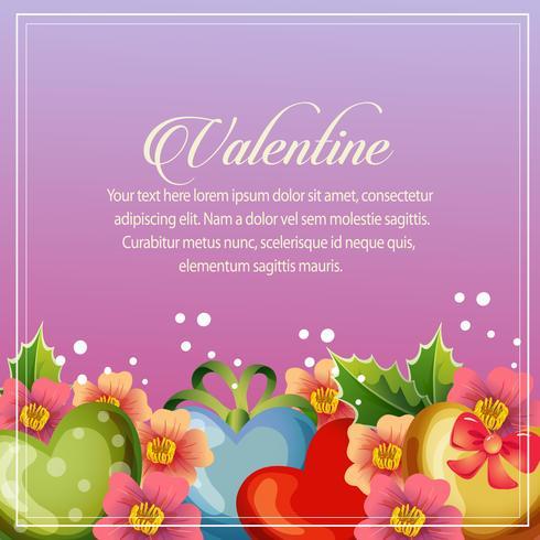 decorazione floreale di San Valentino